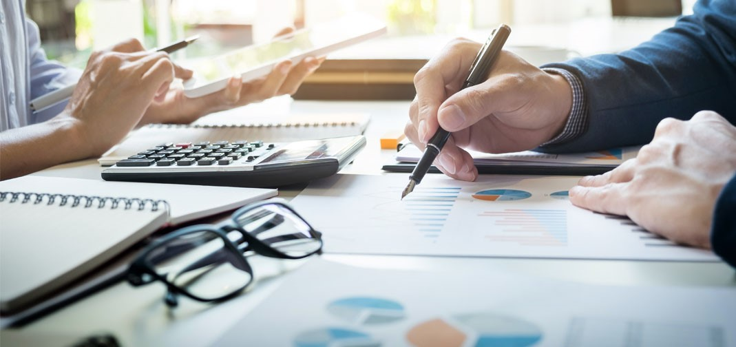 Accountant Working with Figures